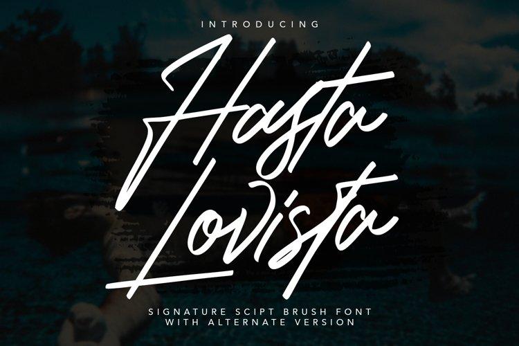 Hasta Lovista Signature Script Brush Font example image 1