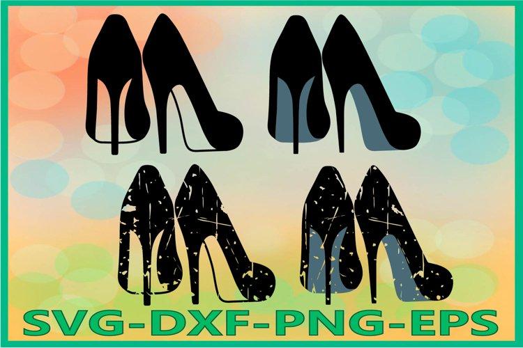 High heels Svg, Womens heels SVG example image 1