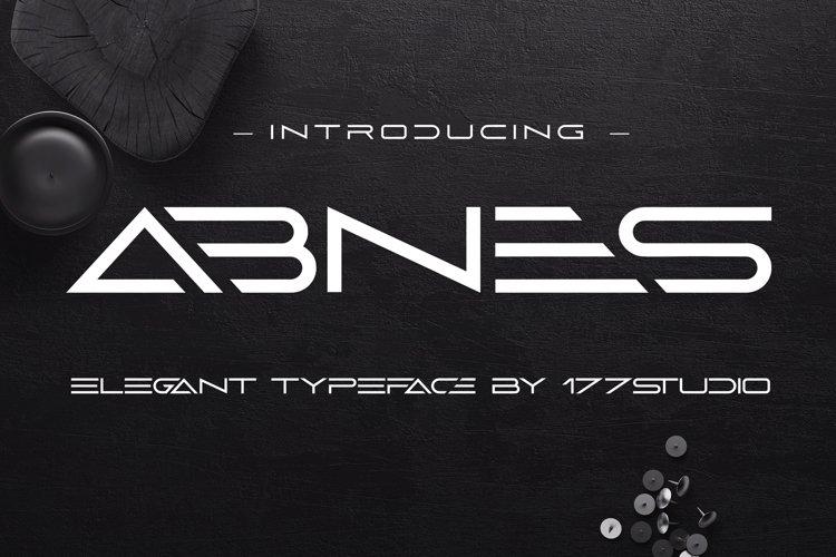 Abnes - Elegant Sans Serif Font