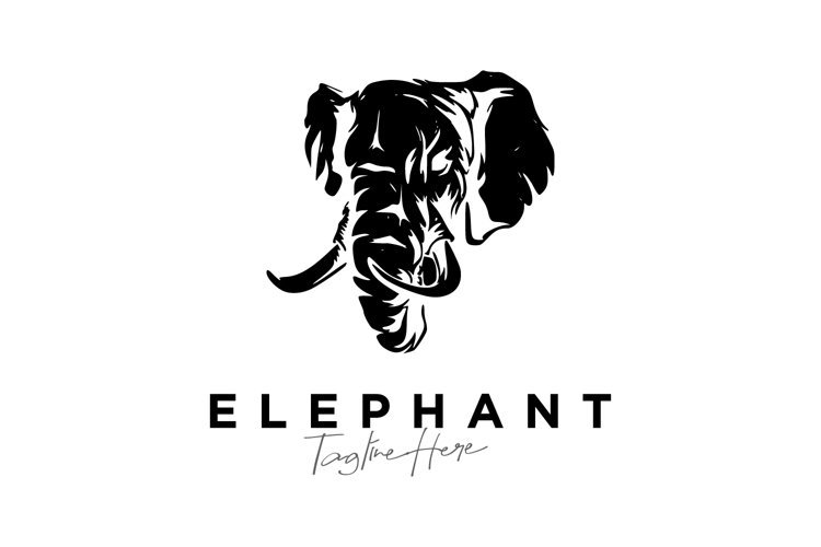 Abstract Elephant logo design vector example image 1