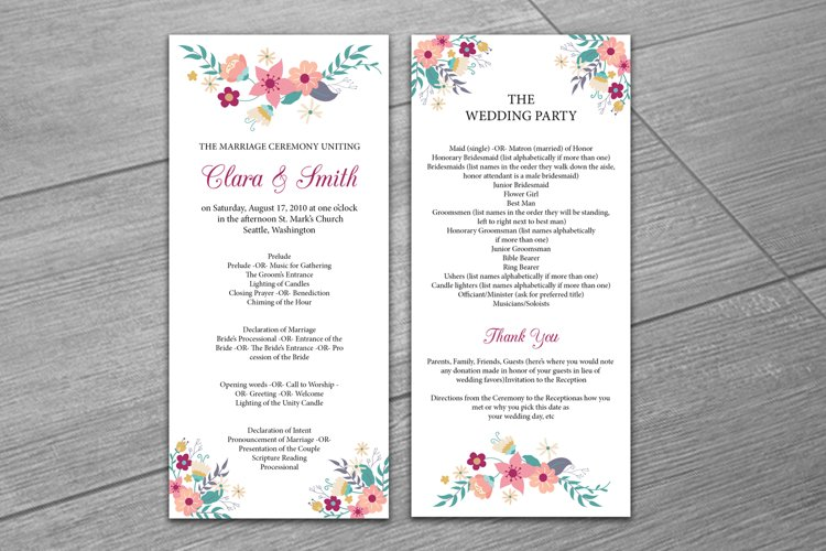 Wedding Program Template For Word from i.fbcd.co