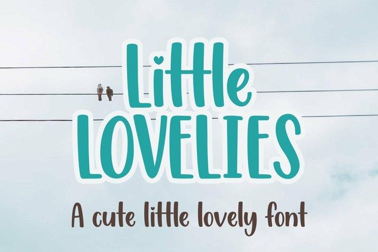 Web Font Little Lovelies - a fun craft font example image 1