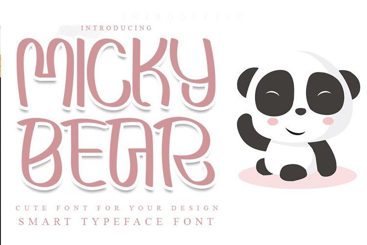 Micky Bear example image 1