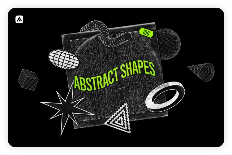 Abstract shapes collection 100 design elements example image 1