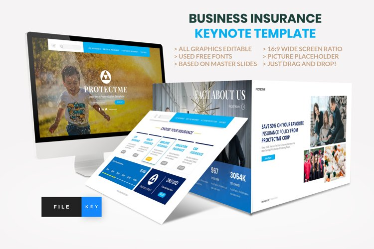 Insurance - Business Consultant Keynote Template example image 1