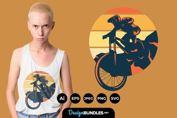 Mountain Bike Illustrations for T-Shirt Design