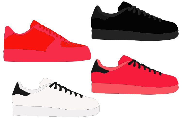 SNEAKERS svg, no name sneakers example image 1