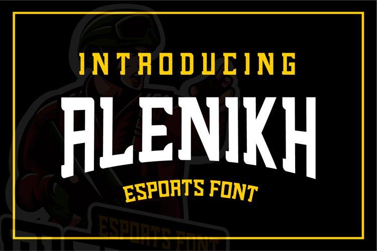 Alenikh Esports Font Logo example image 1