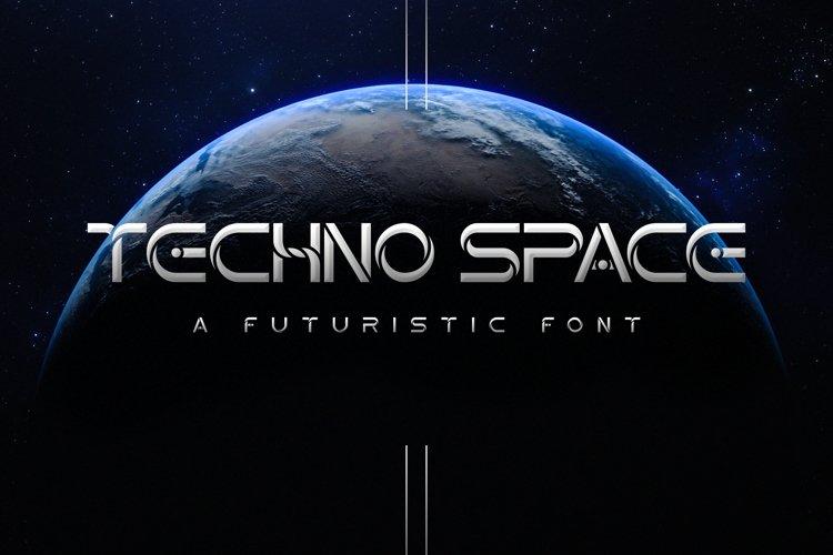 Techno Space Futuristic Font example image 1