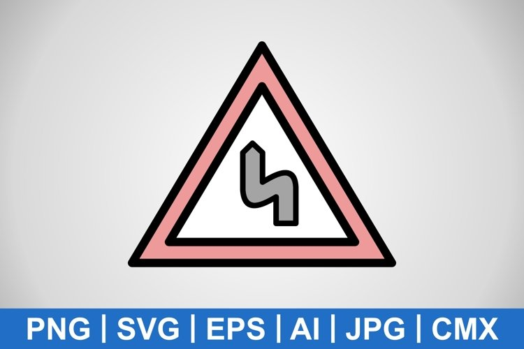 Vector Double bend to the left Icon example image 1