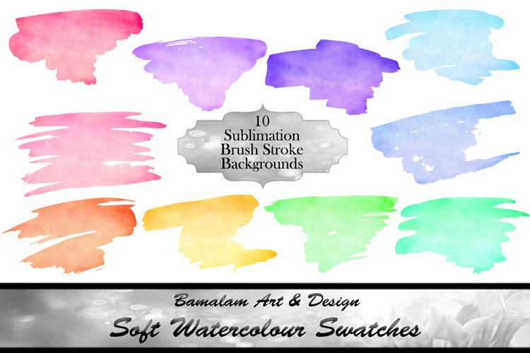Soft Watercolour Sublimation Swatches