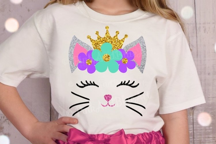 Cat Princess Girl Cute Kids Design example image 1