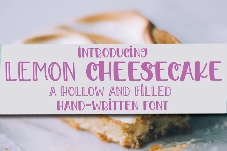 Lemon Cheesecake - A Hollow and Filled Hand-Written Font