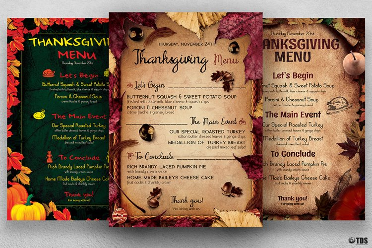 Thanksgiving Menu Bundle