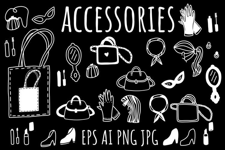 ACCESSORIES IN EPS, AI, PNG, JPG example image 1