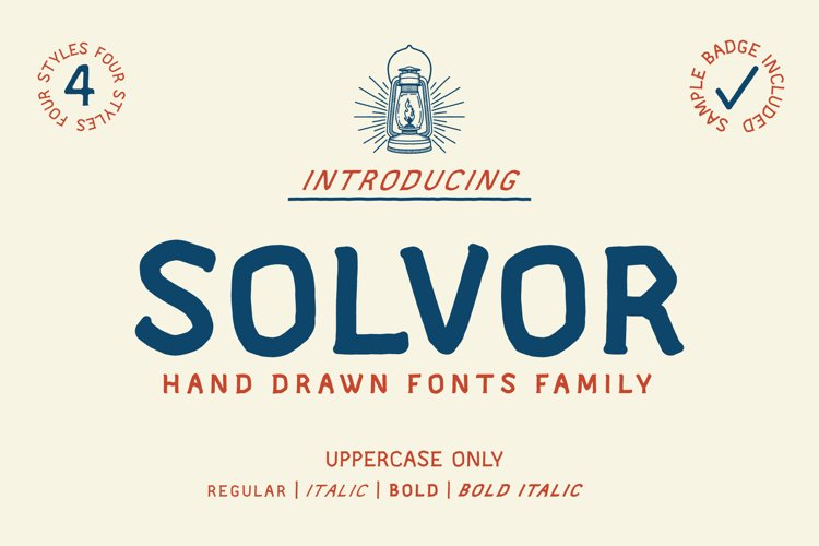 SOLVOR Font - Extra Badge Template example image 1