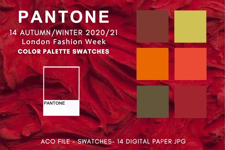 Swatches for photoshop, Pantone Color Autumn Winter 2020-21 example image 1