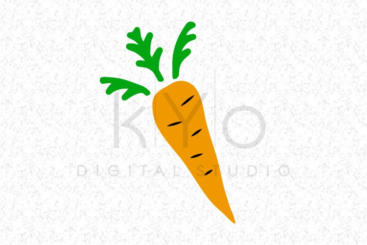 Hand Drawn Carrot Svg Png Dxf cut files