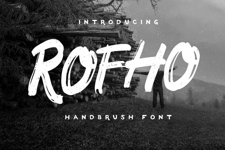 Rofho Handbrush Font example image 1