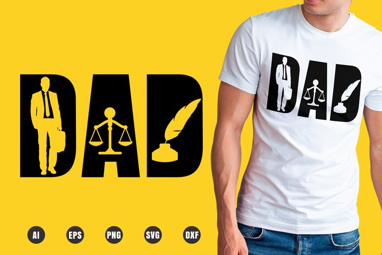 Dad Lawyer SVG - Father's Day Designs example image 1