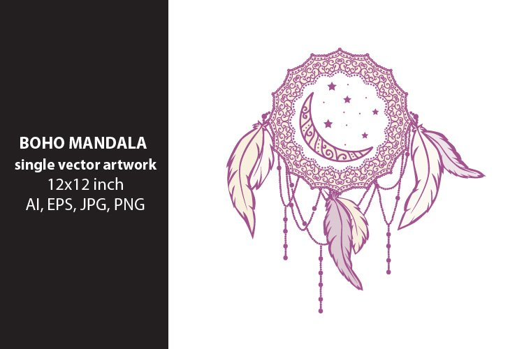 dream mandala- single vector artwork example image 1