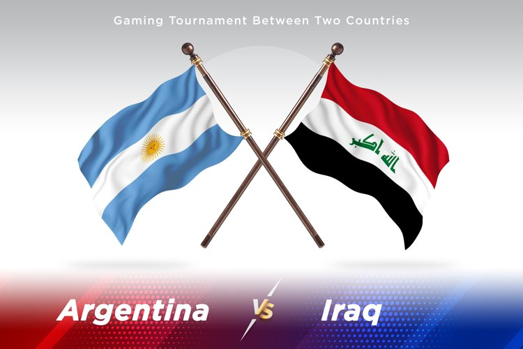 Argentina vs Iraq Two Flags example image 1