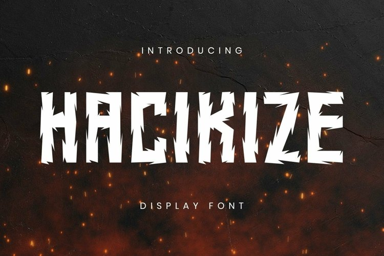 Web Font Hacikize Font example image 1