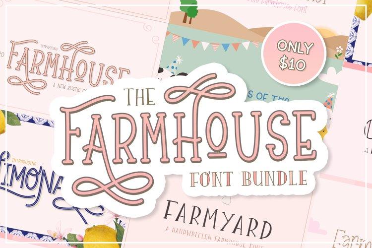 The Farmhouse Font Bundle