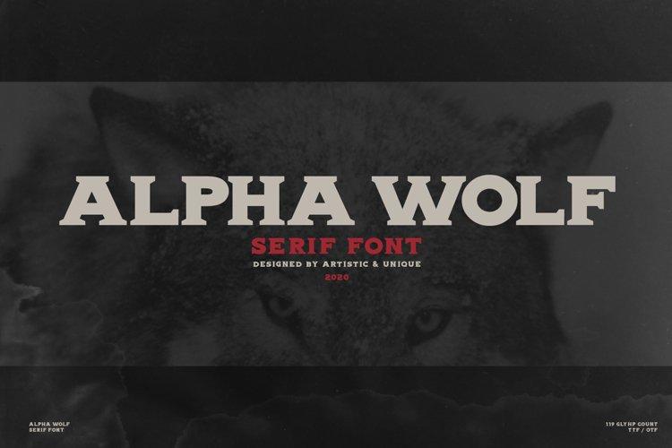 Alpha wolf - Serif font example image 1