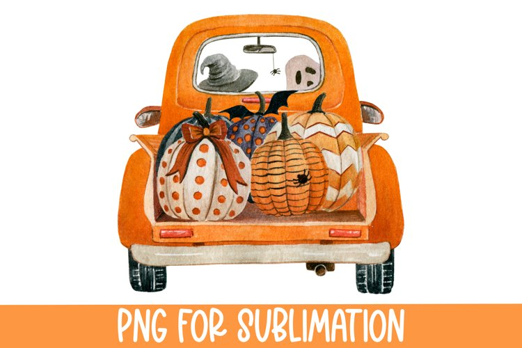 Halloween Sublimation Designs for t shirts, Halloween Truck
