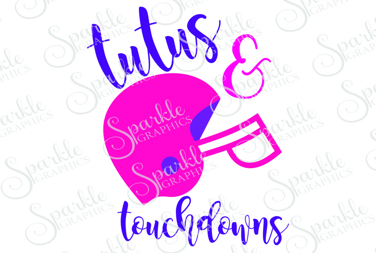 Tutus & Touchdowns File Set | SVG, EPS, DXF, PNG example image 1