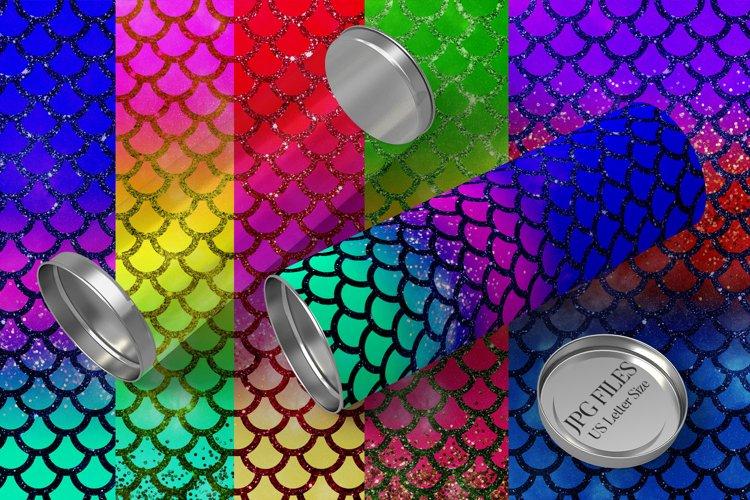 Glitter mermaid patterns - Gradient rainbow backgrounds