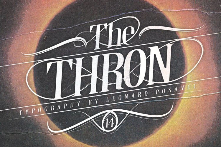 Thron Font example image 1