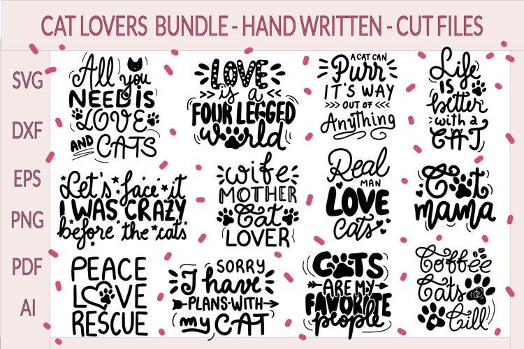 Cat Bundle SVG - Cat Quotes SVG - Cat Lover, Cat mom sayings
