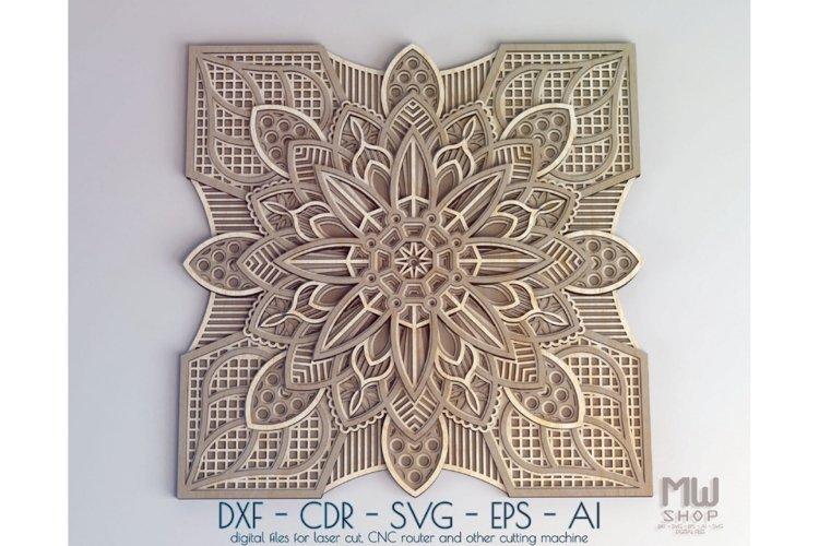 Download M01 Multilayer Mandala Dxf File For Laser Cut And Cnc 577755 Laser Engraving Design Bundles