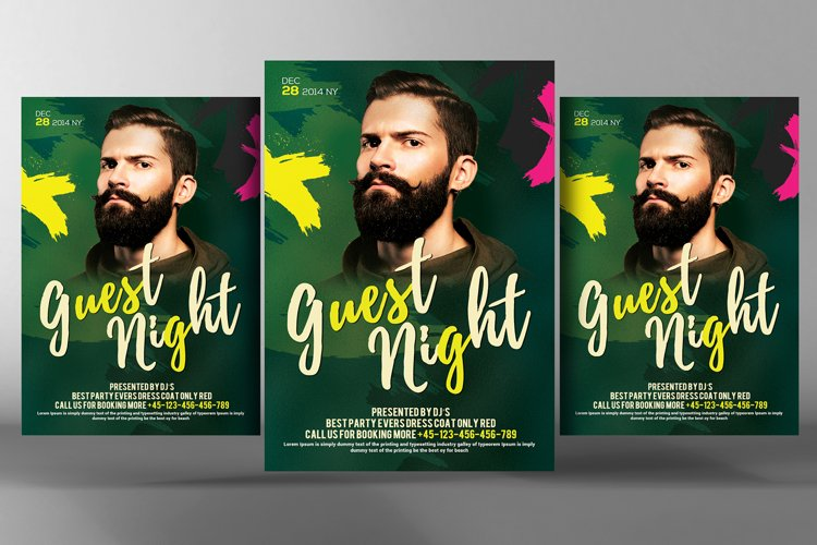 Live Guest Dj Night Flyer example image 1