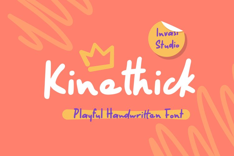 Kinethick   Playful Font example image 1