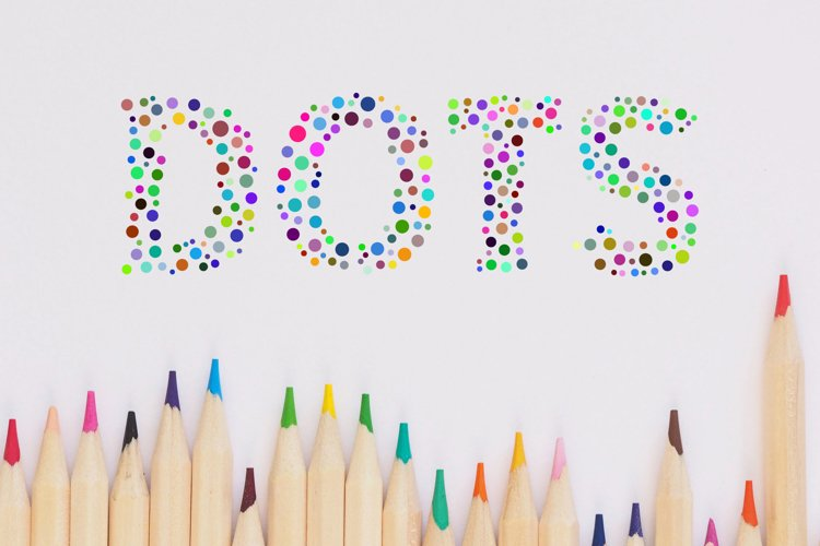 Color Dots Font example image 1