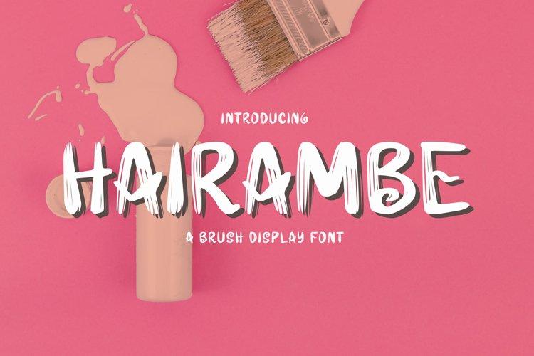 Hairambe - Brush Font example image 1