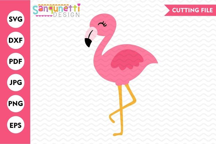 Flamingo SVG, pink flamingo summer cutting file