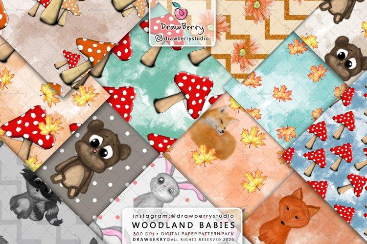Woodland Baby Animal Patterns DP081 example image 1