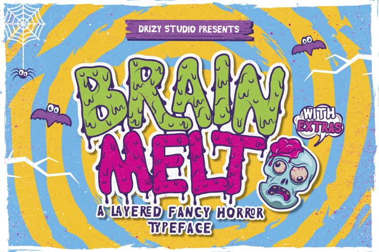 Brain Melt Layered Typeface - Free Font of The Week Font