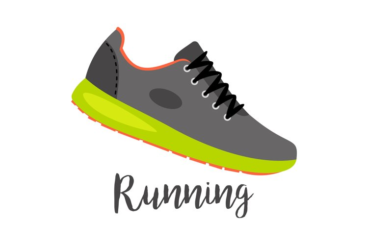 Shoes with text running example image 1