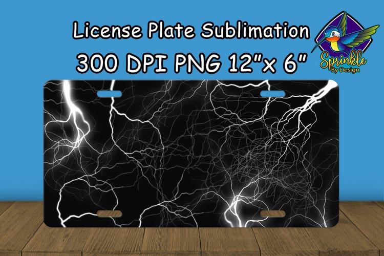 White Lightning License Plate Sublimation example image 1