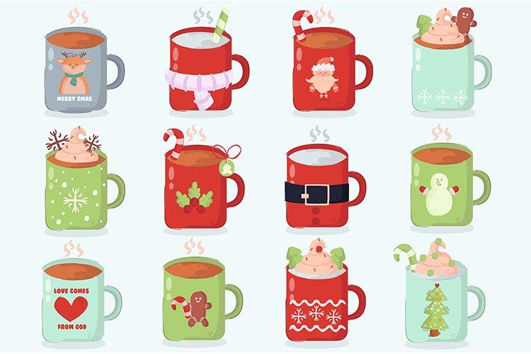 Christmas Mug Decoration Cartoon Illustration example image 1