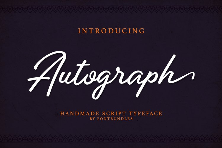 Web Font Autograph example image 1