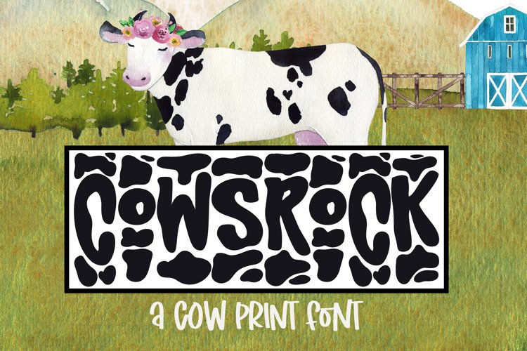 CowsRock - A Silly Cow Print Font example image 1