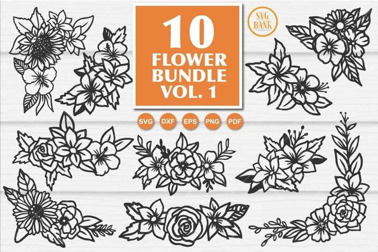Flower SVG, Wedding Flower SVG, Flower Corner, Flower border