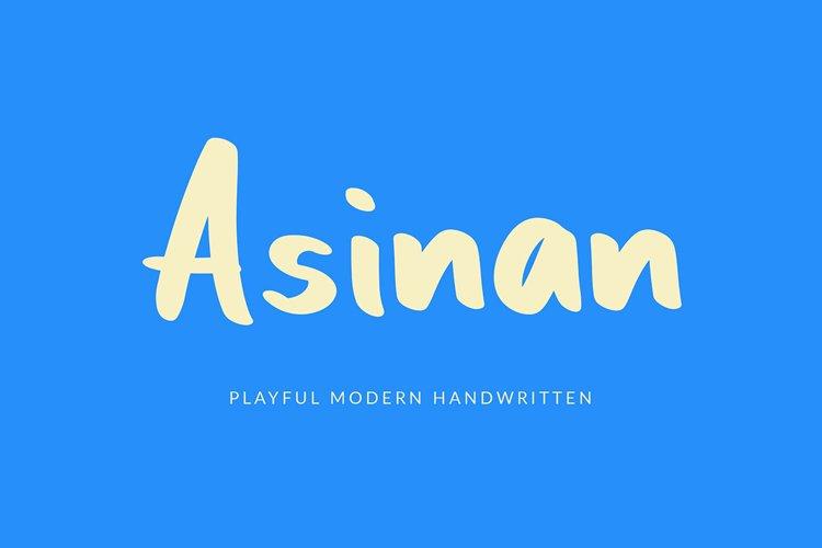 Asinan Playful Handwritten Font example image 1
