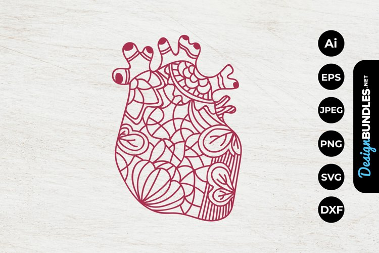 Floral Heart Papercut example image 1